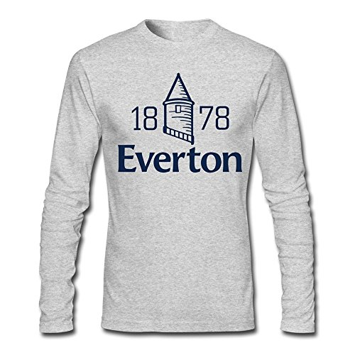 Alexis-O Men's Everton FC Team Logo T-shirts S HeatherGray (T-shirt Soccer Shot)