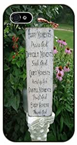 Happy momments praise God, difficult momments seek God - Flower landscape - Bible verse For Iphone 6Plus 5.5Inch Case Cover black plastic case / Christian Verses