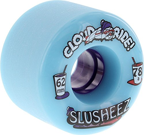 サービスミット寄託Cloud Ride Wheels Slusheez Light Blue Skateboard Wheels - 62mm 78a (Set of 4) by Cloud Ride Wheels