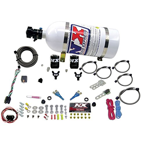 Dual Nozzle Nitrous - Nitrous Express 20716-10 35-150 HP Dual Nozzle with 10 lbs. Bottle for Nissan / Infinity