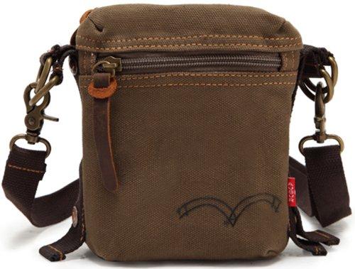 Genda 2Archer Vintage Mini Messenger Bag Men's Women's Detachable Waist Pack