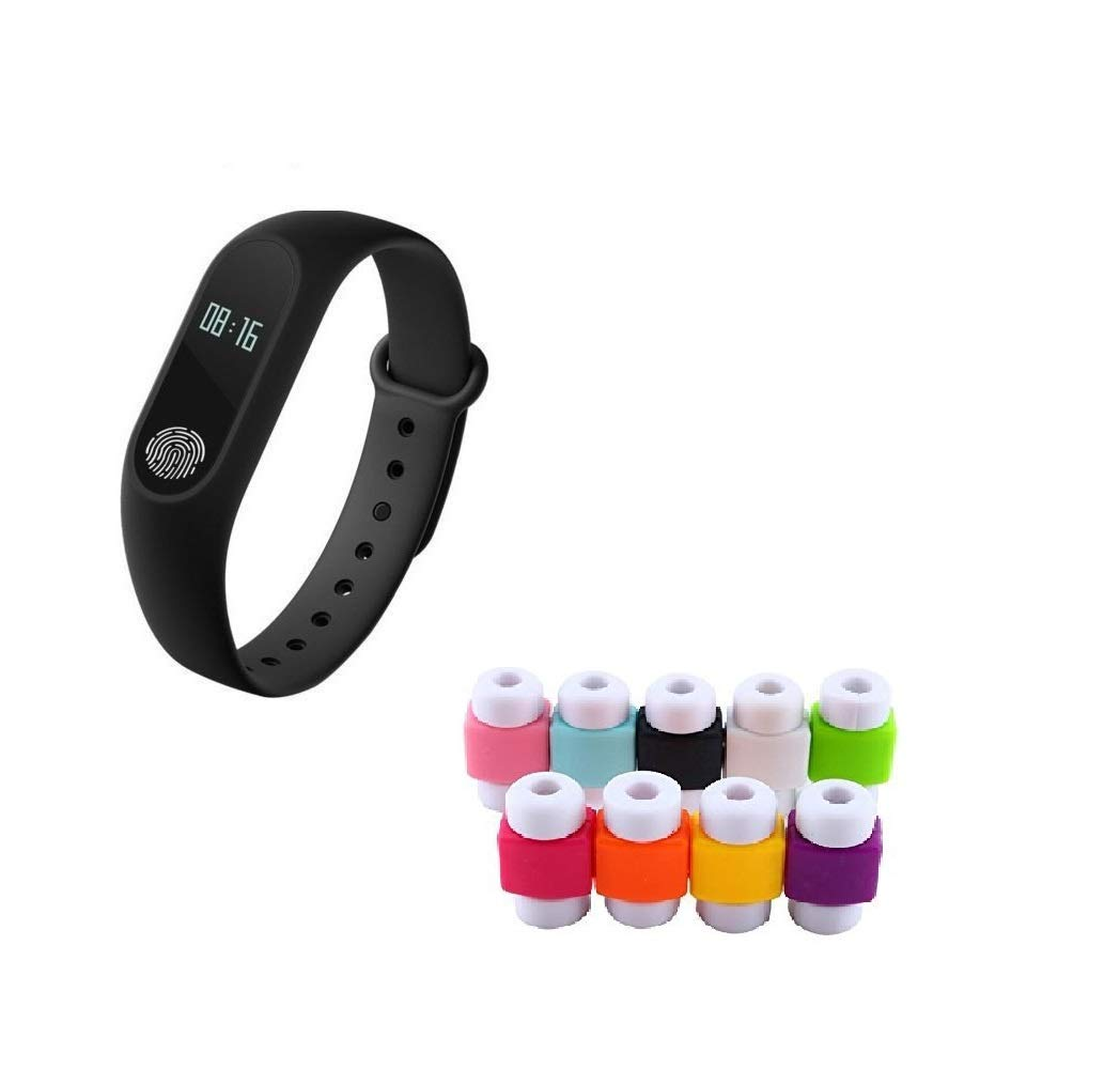 Easypro Bluetooth M2 Fitness Smart Band for Android/iOS Devices (Black)