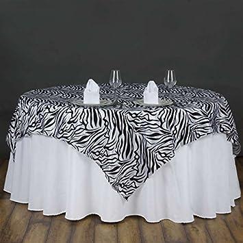 BalsaCircle 72u0026quot; X 72u0026quot; Safari Animal Print Zebra Overlay Party  Linens ...