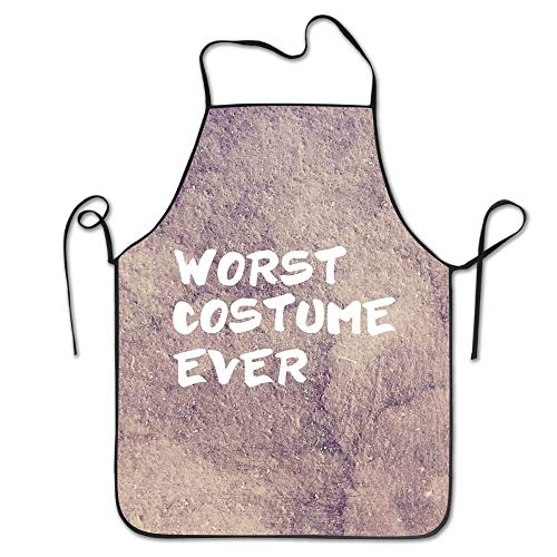 ineieepk Worst Costume Ever Halloween Costume Kitchen Apron for Women Retro Apron Dress Men Cooking Apron Pinafore