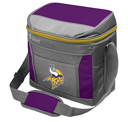 Vikings Gear Minnesota (Rawlings NFL Soft-Sided Insulated Cooler Bag, 16-Can Capacity with Ice)
