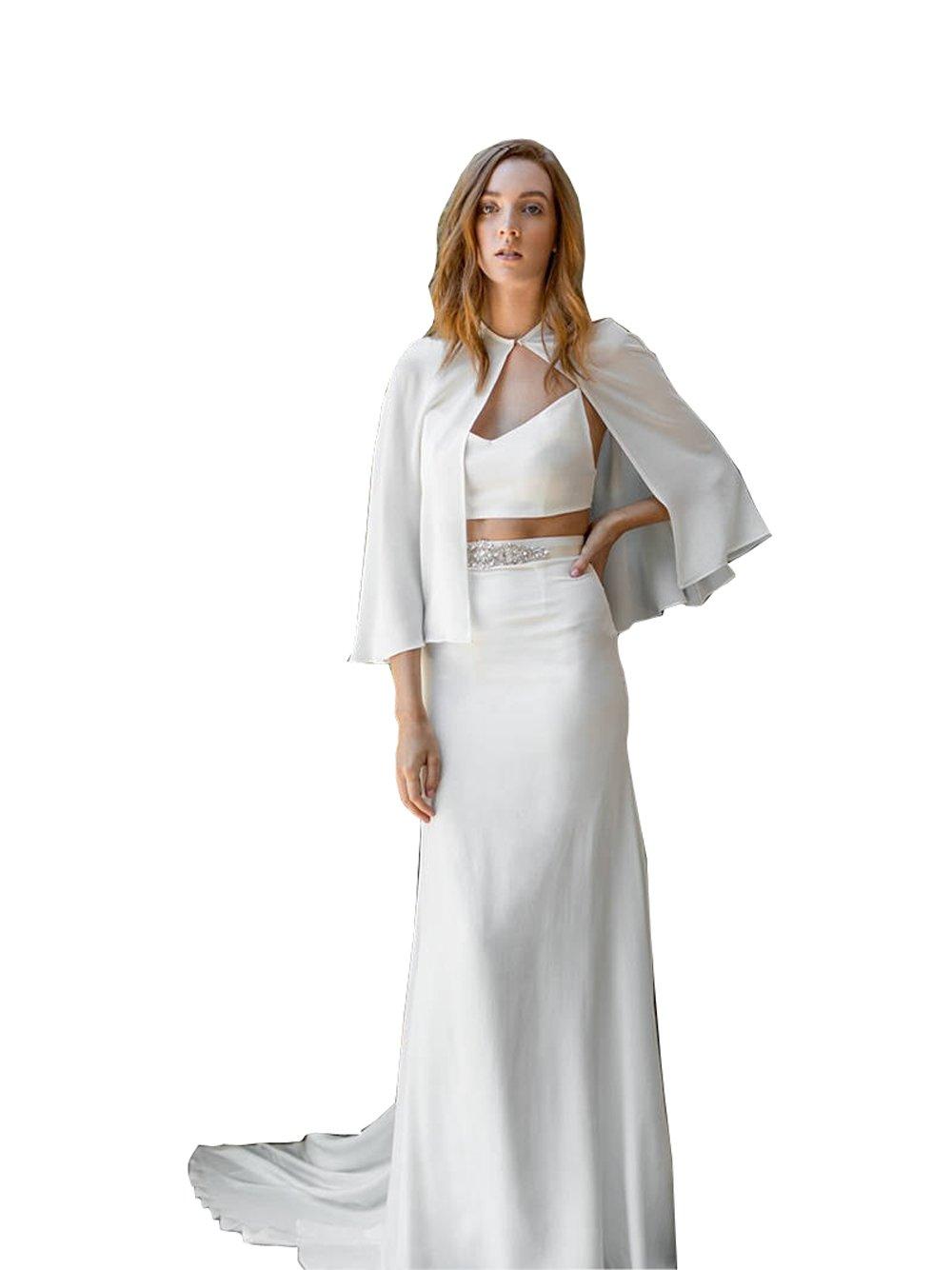 kelaixiang Wedding Cloak Bridal Cape Short Jacket for Bride Wedding (Lvory, 50cm)