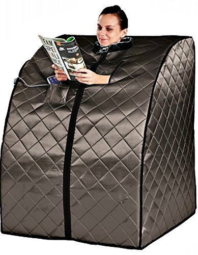 Sauna Portable Infrared FAR Carbon Fiber Panels - Wired Remote Control - Max Heat 140 Degrees - Heated Foot Pad - Rejuvenator Improved Model SA6310-1A by Heat Wave Saunas Rejuvenator 1-A