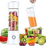 Portable Blender,【2019 Newest】Pendali Personal Size Smoothie Juice Blender Fruit Mixer Six Blades in 3D, 480ml Glass Juicer Cup with 4000mAh USB Rechargeable for Travel Office, (FDA BPA Free)