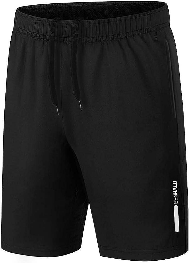 Wetry Pantaloncini Uomo Sportivi con Tasche Shorts Uomo Estivi Casual Running Tennis Training Pantaloni Corti Sport