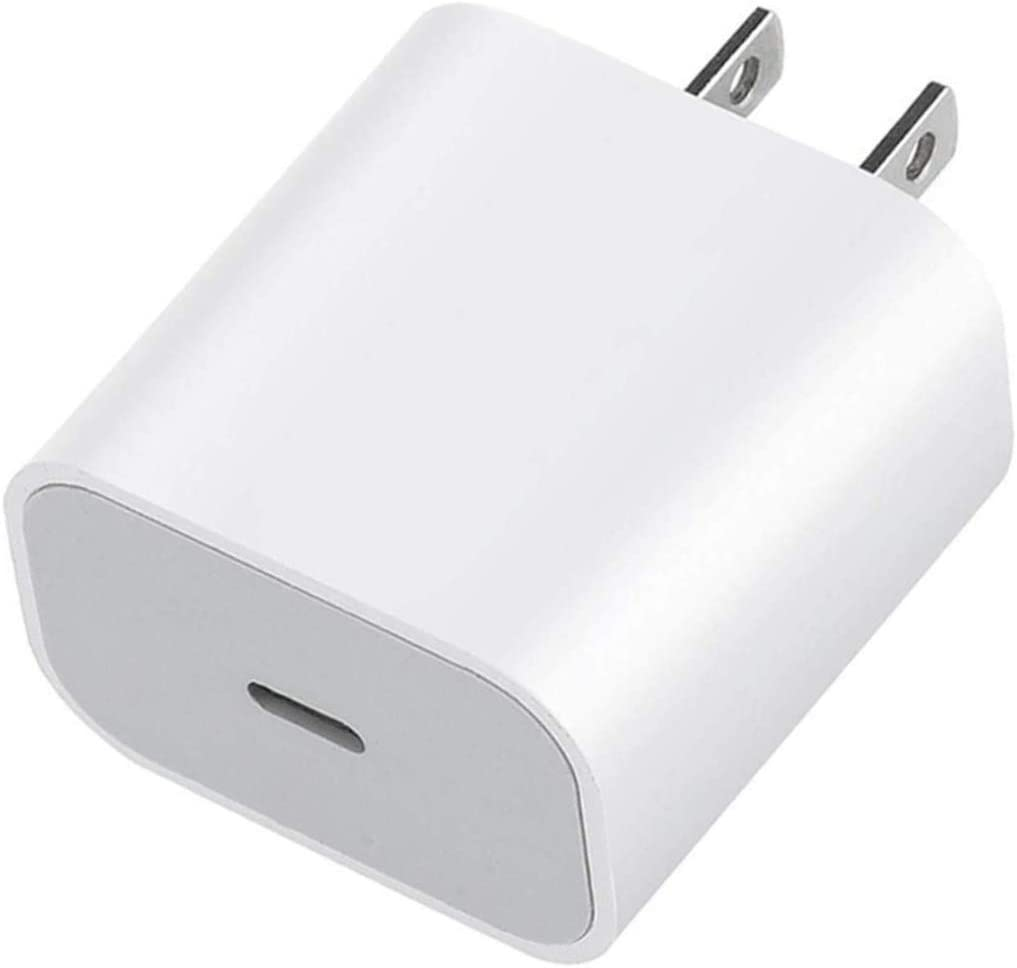 USB-C Power Adapter, 20W USB-C Fast Charging Wall Charger for iPhone 12 Mini 11 Pro Xs Max XR X 8 Plus