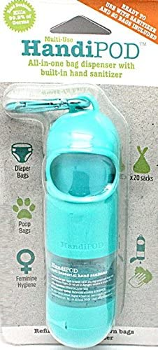 Magnet Steel Handipod Dog Poop Bag And Hand Sanitizer Dispenser