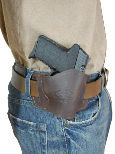 - Barsony NEW Quick Slide Gun OWB Brown Leather Holster for Bersa Thunder 380 32 right