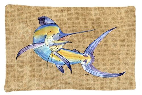Large Multicolor Carolines Treasures 8811PILLOWCASE Blue Marlin Moisture Wicking Fabric Standard Pillowcase