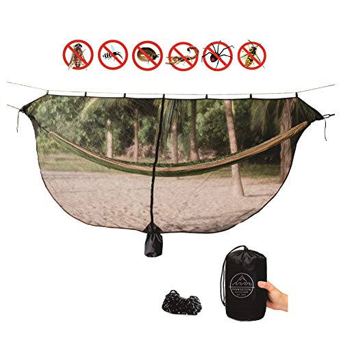 Evangelista Outfitters Hammock Mosquito Net - 11'2 x 4'6 Bug & Mosquitos Net fits All Camping Hammocks. Dense Mesh Provides Security. Compact, Lightweight, Easy Setup