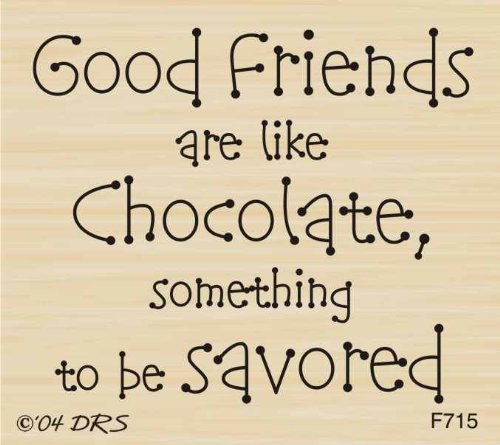- Savor Good Friends Greeting Rubber Stamp By DRS Designs