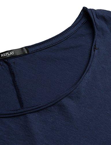 Replay Women's Women's Blue T-Shirt 100% Cotton Blue