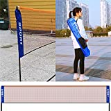 AKOZLIN Portable Adjust Height 2.8-5ft Badminton