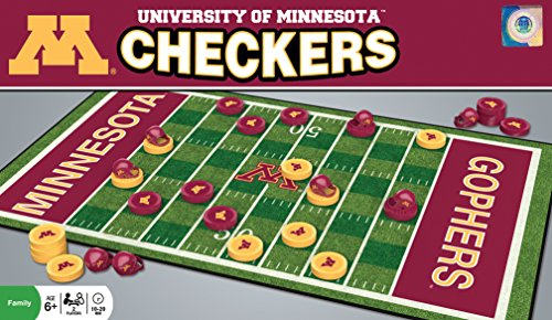 MasterPieces NCAA Minnesota Golden Gophers Checkers Game