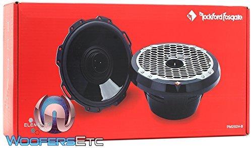 Rockford Fosgate PM282H-B 300 Watt Peak Power 8'' Punch Series 2-Way Full-Range Marine Speaker with Horn Tweeter - Black