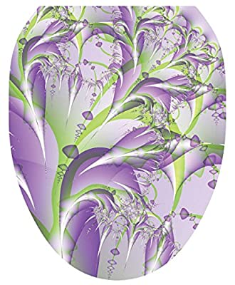 Toilet Tattoos, Toilet Seat Cover Decal,Lavender Fields, Size Elongated