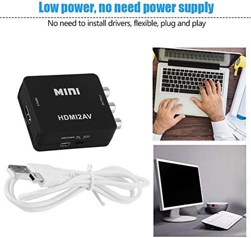 Schwarz Mini 1080P HDMI zu RCA Audio Video AV CVBS Adapter Konverter f/ür HDTV HDMI2AV Video Konverter Adapter Box Schwarz