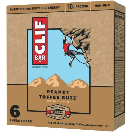 Clif, Energy Bar, Peanut Toffee Buzz (Pack of 6)