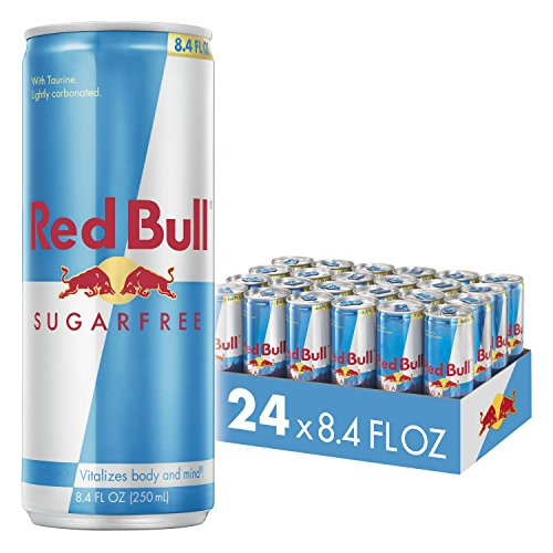 Red Bull Energy Drink Sugar Free 24 Pack of 8.4 Fl Oz, Sugarfree (Best Vodka Drinks To Order At A Bar)