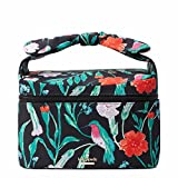 Kate Spade New York Haring Lane Joelie cosmetic Make up Travel Case Black Multi
