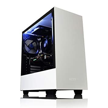 AWD-IT NZXT H500 White Gaming PC AMD FX-8350 8 Core CPU, AMD Radeon RX 570  4GB Graphics Card, 1TB Hard Drive, 32GB DDR3 Memory, HDMI 1080p, USB 3 0)
