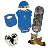 Baby Boy Camo Hunting Buddy Gift Set with Pacifier and Plush Deer