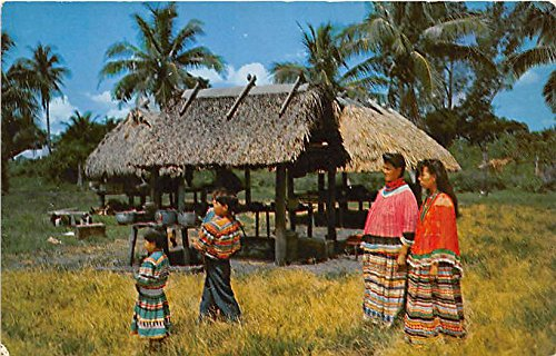 Florida Seminole Indians in their colorful costumes Indian Postcard