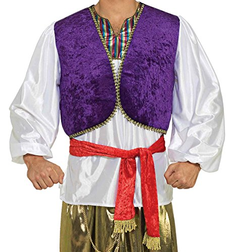 [Forum Novelties Men's Desert Prince Costume Shirt and Vest, Multi, One size] (Arabian Costumes For Men)