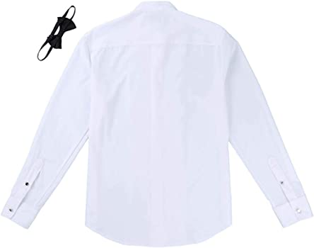 ranrann Camisa Manga Larga para Hombre Caballero Camisas de Vestir ...