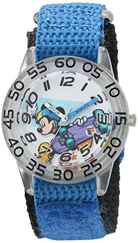 Disney Boy's 'Mickey Mouse' Quartz Plastic and Nylon Watch, Color:Blue (Model: W002995) -  eWatchFactory