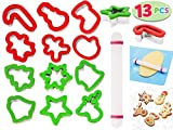 13pc Stainless Steel Large Christmas Cookie Cutters w/ Comfort Grip Deal (Small Image)