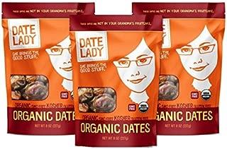 product image for Date Lady Organic Barhi Dates | Vegan, Paleo, Gluten-free & Kosher (3 Bags)