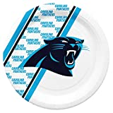 Duck House NFL Carolina Panthers Disposable Paper Plates, Pack of 20