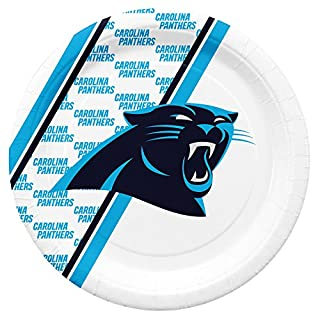 NFL Carolina Panthers Disposable Paper Plates, Pack of 20 (B00N9TMSOA) | Amazon price tracker / tracking, Amazon price history charts, Amazon price watches, Amazon price drop alerts