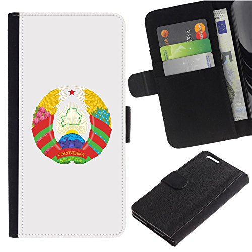 [Coat of Arms of the Republic of Belarus] For Samsung Galaxy S8 Active, Flip Leather Wallet Holsters Pouch Skin (Belarus Coat)