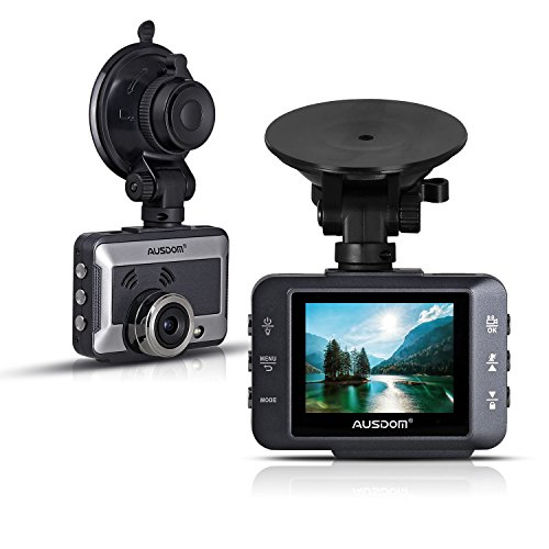 AUSDOM Car Dash-Cam Recorder Full HD1080P 2.0 Inches Car DVR Vehicle Camera
