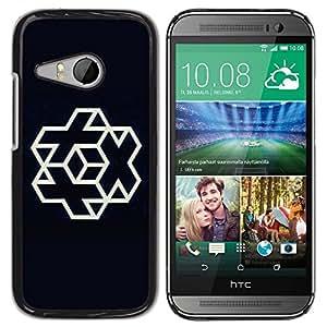 Be Good Phone Accessory // Dura Cáscara cubierta Protectora Caso Carcasa Funda de Protección para HTC ONE MINI 2 / M8 MINI // Plus cube