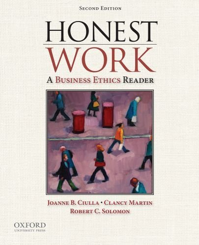 honest work a business ethics reader 3rd edition pdf