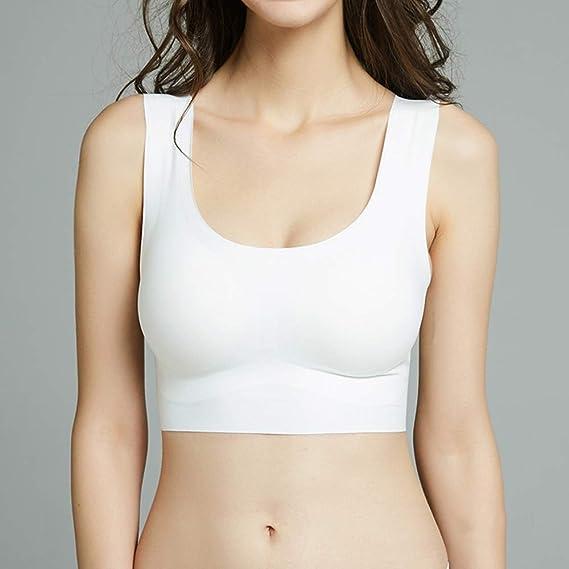 Joyunii Zero Feel Serie Bustier ohne B/ügel Underwear Shirt Top Unterhemden Homewear Nahtlose Klassische BH Bralette mit herausnehmbare Pads
