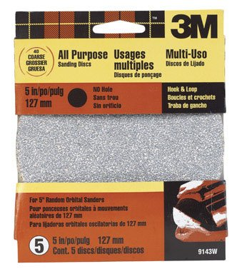 3M 9143W 5'' Coarse Grit Quick Change Sanding Disk by 3M