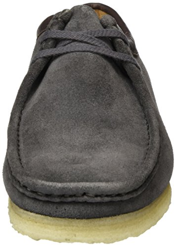 Brogue Wallabee Scarpe Originals Clarks Charcoal Stringate Basse Uomo Suede Nero UXqBAwpwWc