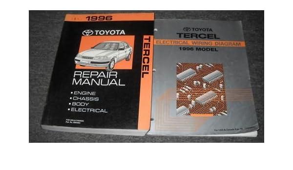 1996 toyota tercel service shop repair manual set oem service rh amazon com Wiring-Diagram Toyota Tundra 2013 2013 Toyota Tacoma Wiring Diagram