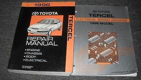 1996 toyota tercel service shop repair manual set oem service rh amazon com