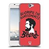 Head Case Designs Go Beard Bearded Bravado Hard Back Case for HTC One A9s
