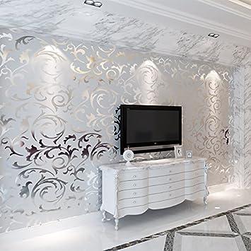 10 m Rolle geprägte vinyl pvc 3d Wand Tapeten Rollen für Wohnzimmer ...
