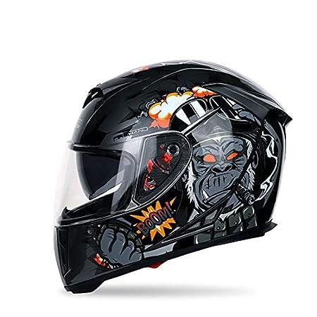 ABS Schale ECE Zertifiziert MOTUO Motorradhelm Integralhelm Damen Herren Roller Helm mit Doppelvisier Sonnenblende